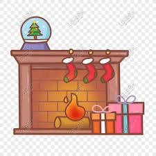 Hand Drawn Cartoon Christmas Fireplace Illustration Png Image Picture Free Download 611369939 Lovepik Com