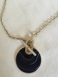 popular michael kor pendant necklace gold black tone large disc tradesy rose silver bracelet set uk