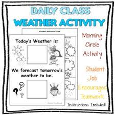 Daily Weather Chart Back To School Bulletin Board Activity
