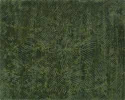 brooke green palm frond rug
