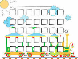 Details About A5 Print Children S Toy Train Reward Chart With Smiley Face Stickers Kids Rm