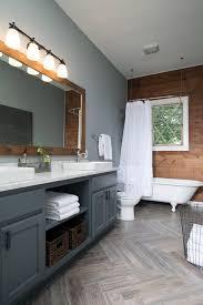 bathrooms with wood floors. Modern Rustic - Bathroom Remodel Home Design Herringbone Pattern Wood Floors Ceramic Tile Bathrooms With C