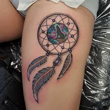 Dream Catcher Tattoo On Thigh 100 Best Dreamcatcher Tattoos Ideas 12