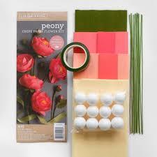 Peony Paper Flower Crepe Paper Flower Peony Kit