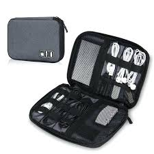 travel cable organizer compact portable electronics accessories