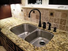 how to install kitchen sink on granite countertop home interior