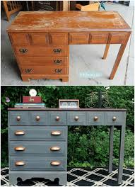 furniture makeover ideas. Gray And Copper Desk Makeover Furniture Ideas