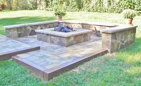 Interesting Patio Ideas With Square Fire Pit Brilliant Stamped Concrete For Models Design