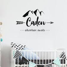 wall decals for bedroom personalized name wall stickers baby nursery room mountain vinyl wall decals bedroom