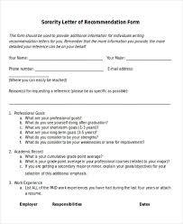 7 Sample Sorority Recommendation Letters Pdf Doc