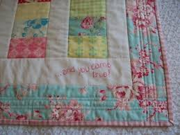Blog Archives - Nicola Foreman Quilts & ...this picture shows you the back of the quilt - this aqua floral fabric  was from the same range,