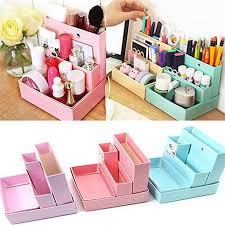2016 new high quality desk decor stationery holder diy paper board storage box makeup cosmetic organizer