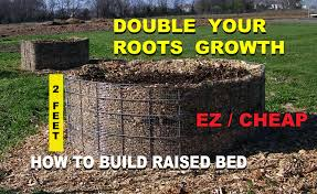 Small Picture How to Build a Raised Wood Chip Organic Gardening Bed for