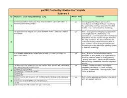 Erp Evaluation Template Erp Evaluation Criteria Template Creative