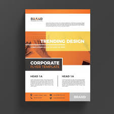 Orange Flyer Orange Corporate Business Flyer Template Psd File Free Download