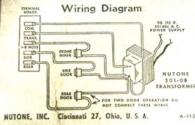 vintage door chimes power & connections doorbell wiring diagram wires Doorbell Wiring Diagram #13