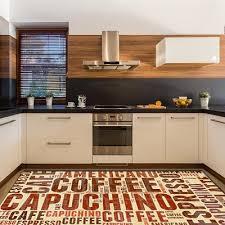 else big brown coffee writen capuchino espresso 3d print non slip microfiber kitchen modern decorative washable area rug mat iranian carpets commercial