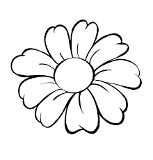 Small Picture Daisy Flower Daisy Flower Outline Coloring Page stencils
