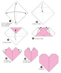 instructions for origami hearts were taken from origami club