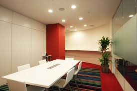 office design concept. An Office Heightens The Corporate Brand With Consistent Design Concept