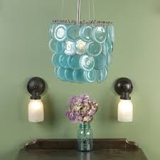 repurposed lighting. Repurposed Colanders As Light Fixtures (ecarlateblush) Mason Jars Are Into A Charming Chandelier Lighting