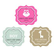 Baby Shower Tags And Labels