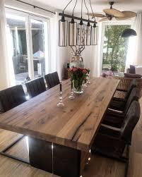 Esstisch Massivholztisch Holztisch Mit Stahlwangen Metall
