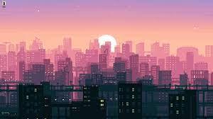 Aesthetic city (8-bit) NightfallCity ...