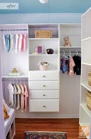Nursery closet makeover incorporating great closet organization ideas