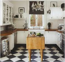 black and white tile floor kitchen. Black And White Tile Floor Kitchen