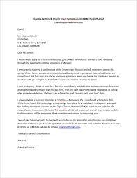 Gallery Of Cover Letter Internship Sample