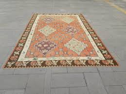 kilim rug turkish kilim rug area rug pastel kilim rug faded muted color rug large kilim