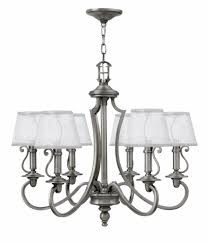 hinkley 4246pl plymouth polished antique nickel chandelier lighting loading zoom