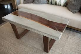 concrete and wood furniture. Concrete + Reclaimed Coffee Table And Wood Furniture T