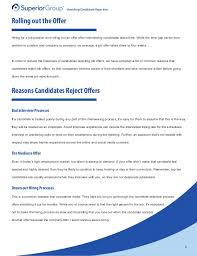 How To Reject A Job Candidate Avoiding Candidate Rejection