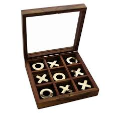 Naughts And Crosses Wooden Game Fascinating SIL Wooden Noughts And Crosses Gift Set Amazoncouk Kitchen Home