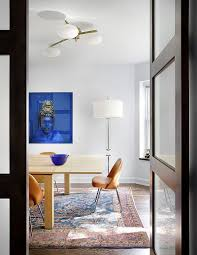 view in gallery spacing it just right in the dining room with rug design alan design studio