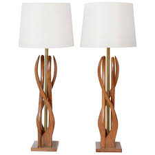 beautiful mid century modern danish style teak wood table lamps for sale wood nightstand lamps a88