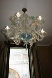 hotel concordia hand blown glass chandelier