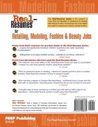 Real Resumes For Retailing Modeling Fashion Beauty Jobs Anne
