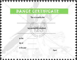 Dance Award Certificate Dance Certificate Templates Hola Braggs Co