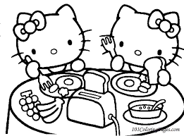 Hello Kitty Coloring Page Colorindodesenhos Bebo Pandco