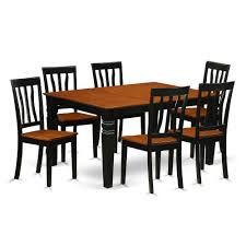 7 Pc Kitchen Table Set With A Kitchen Table And 6 Wood Kitchen