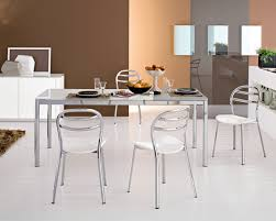 chair an alluring metal dining room set with long rectangular table dining chairs