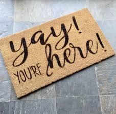 Welcome Mat, Hand-painted Coir Doormat | Coir, Door mats and Doormat