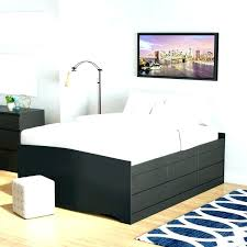 Flat Board Bed Frame Queen Platform Bed With Flat Panel Foot Board ...