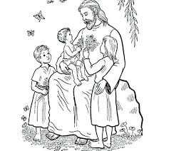 Jesus Loves The Little Children Coloring Page Jesus With Children