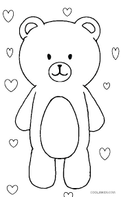 Polar Bear Coloring Page Pages Printable For Adults Pictures B