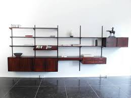 wonderful units danish modern shelving system in rosewood designed by kai kristiansen for fm mobler denmark and wall mounted shelving units k