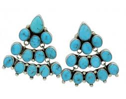 vernon clarissa hale chandelier earrings kingman turquoise pierced navajo 2